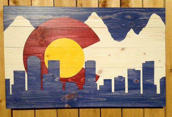 Colorado Flag By Colorado Joe S Denver Skyline Small Colorado