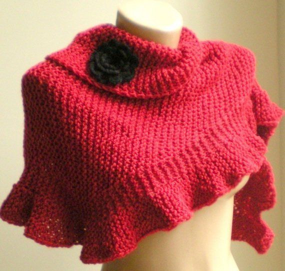 Gorgeous Red Scarf Id Like To Knit Knitting Pinterest Red