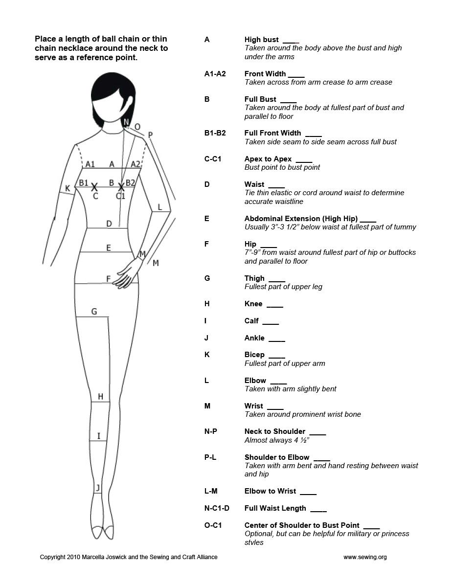 Vera Moss Has Shared A File With You Sewing Measurements Learn To Sew Sewing Techniques