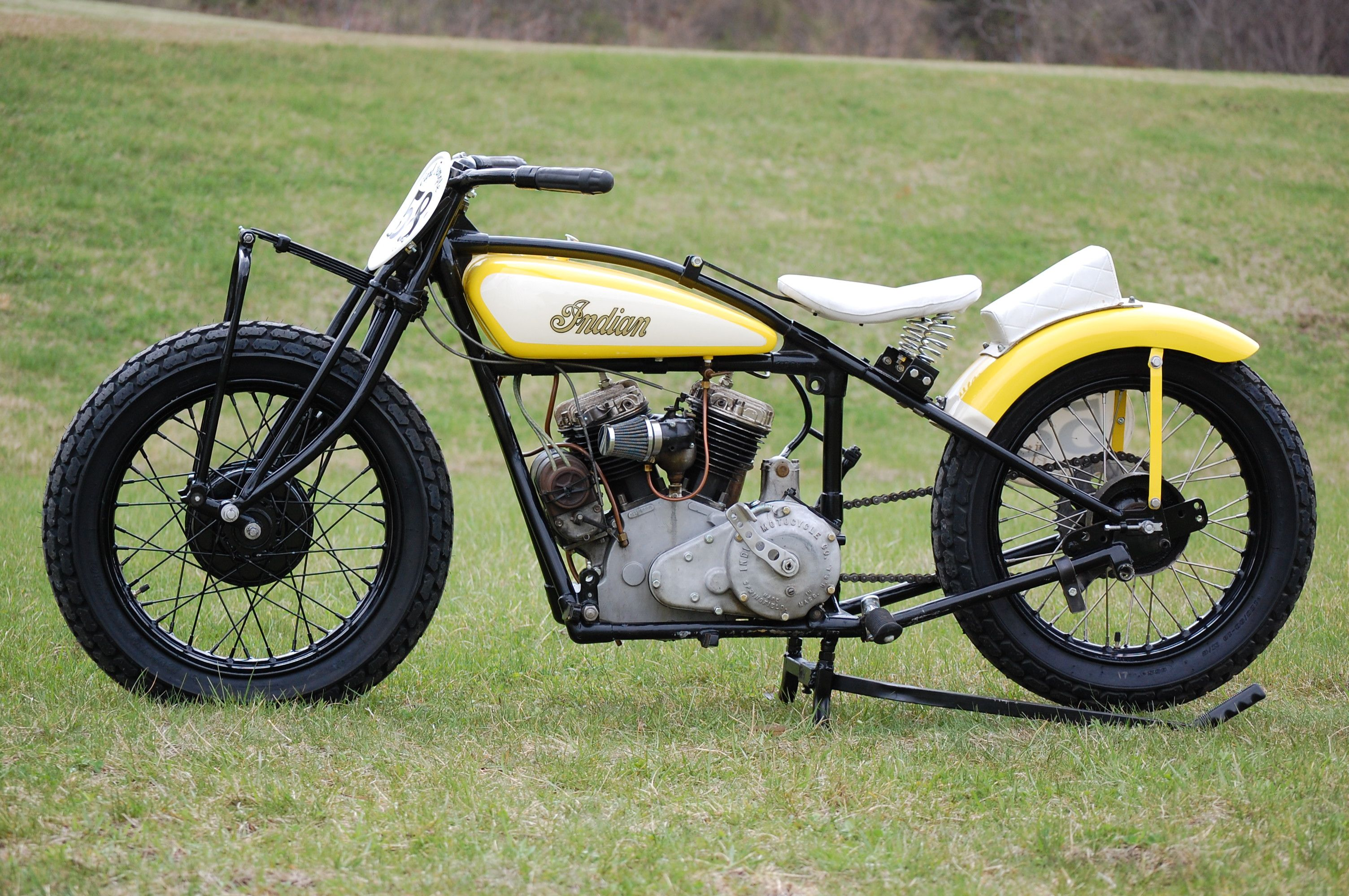 Vintage flat track racing motorcycles 1931 indian 101 scout