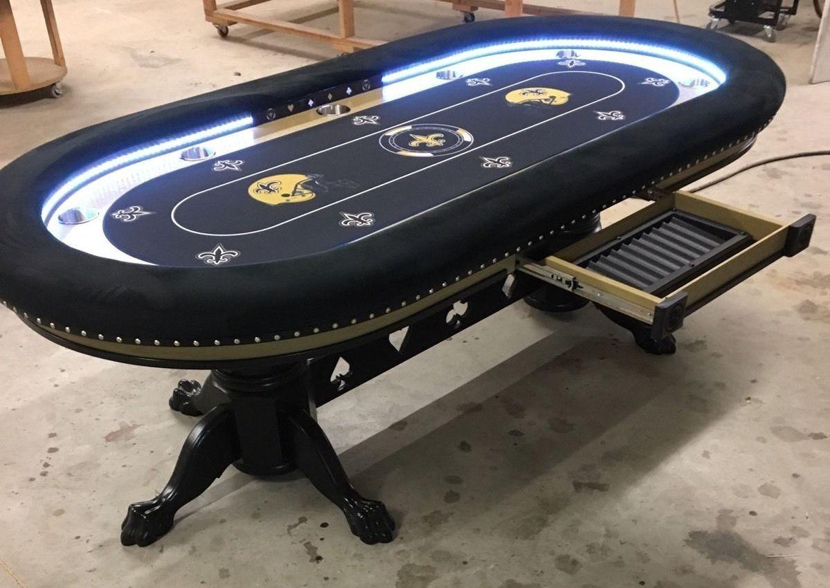 New Orleans Saints Custom Poker Table Poker Table Custom Poker Tables Poker