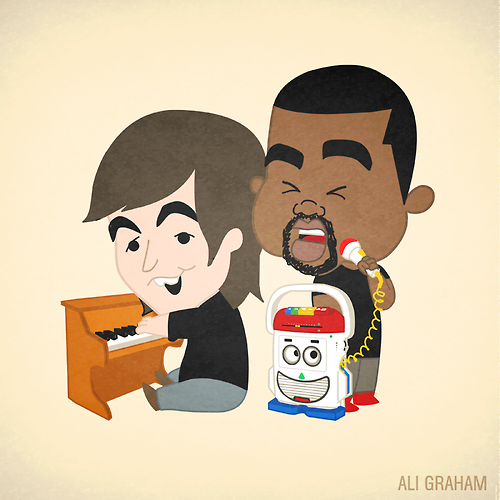 Kanye And Paul Kanye West Paul Mccartney Mickey Mouse Lil