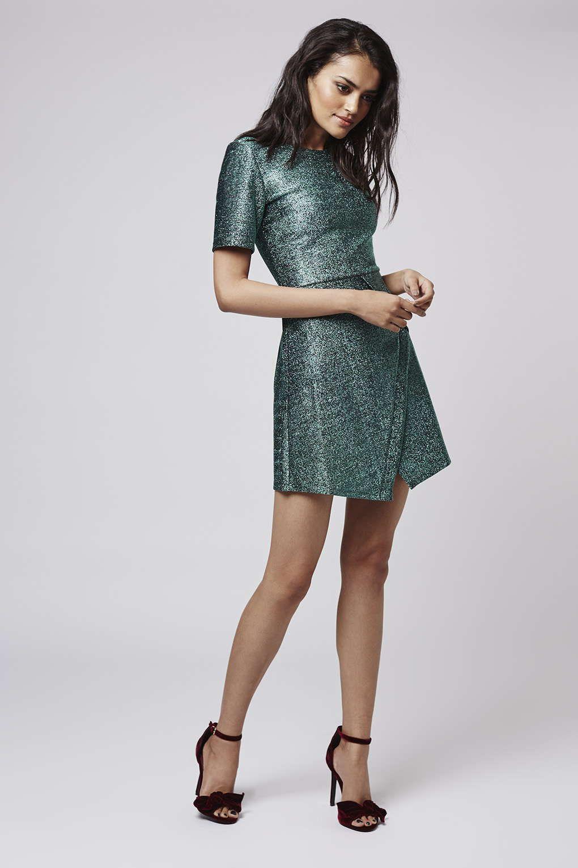 Tinsel Wrap A Line Dress Dresses Clothing Dresses Oh My Dress Clothes [ 1530 x 1020 Pixel ]