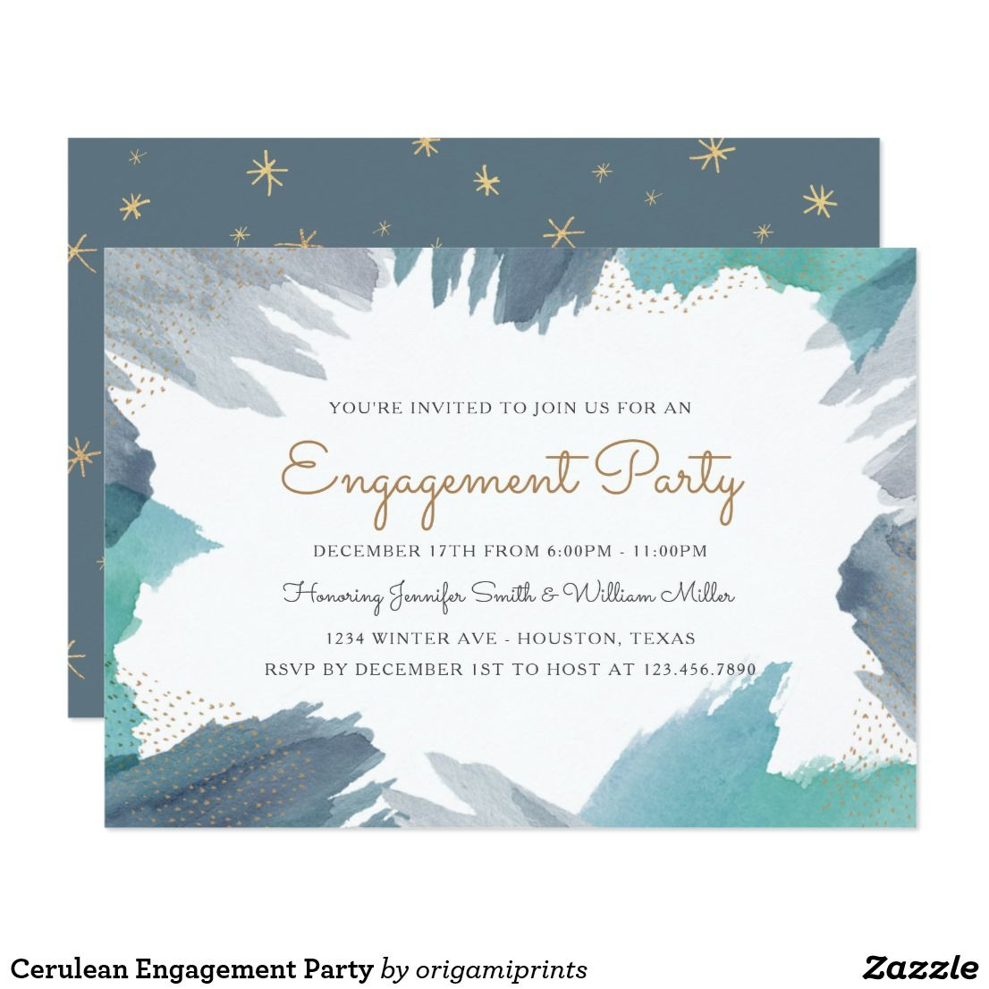 Cerulean Engagement Party Card | Engagement Party Invites ...