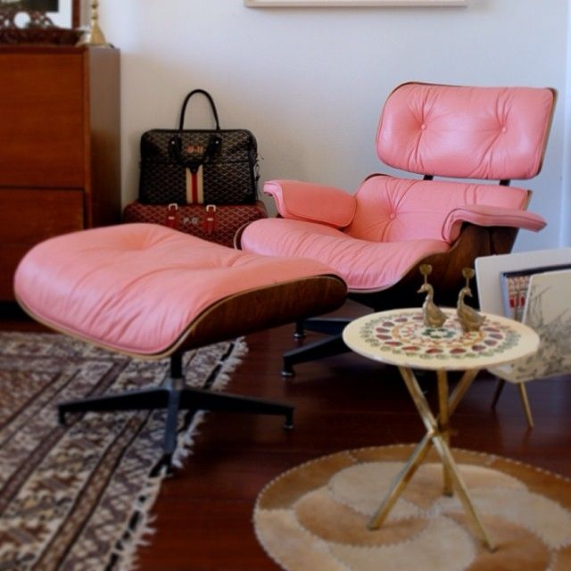 Mary Kay\'s pink Eames chair + WANT! | Want + have | Pinterest ...