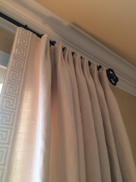 European Pleats With Greek Key Tape Trim Bedroom Curtains With Blinds Curtains With Blinds Curtain Trim