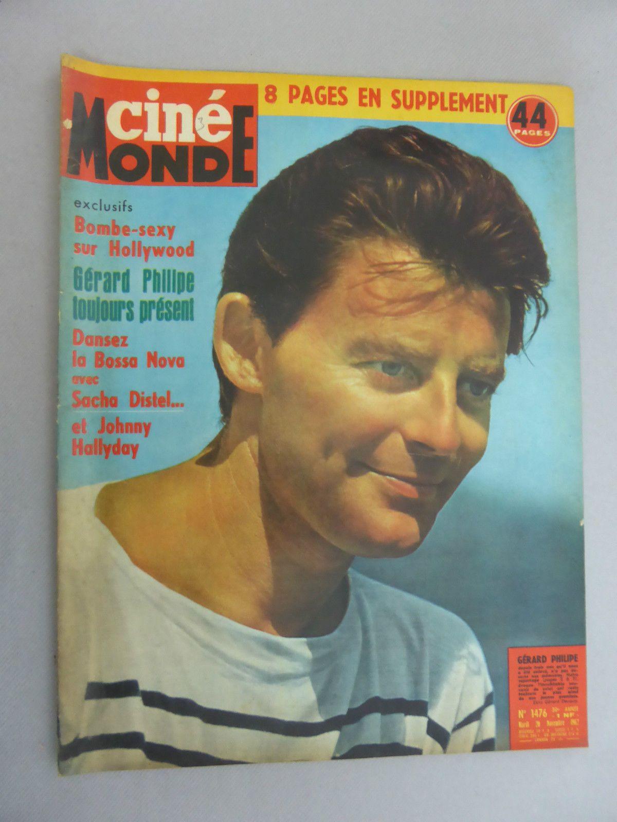 CINEMONDE 1962 GERARD PHILIPPE SACHA DISTEL BREL REVUE HEBDOMADAIRE | eBay