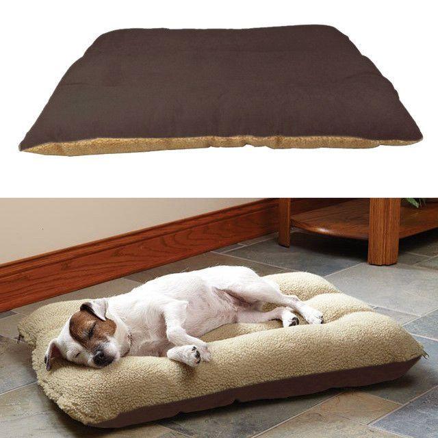 100 75cm Size Large Dog Bed Kennel Mat Soft Fleece Pet Puppy Cat