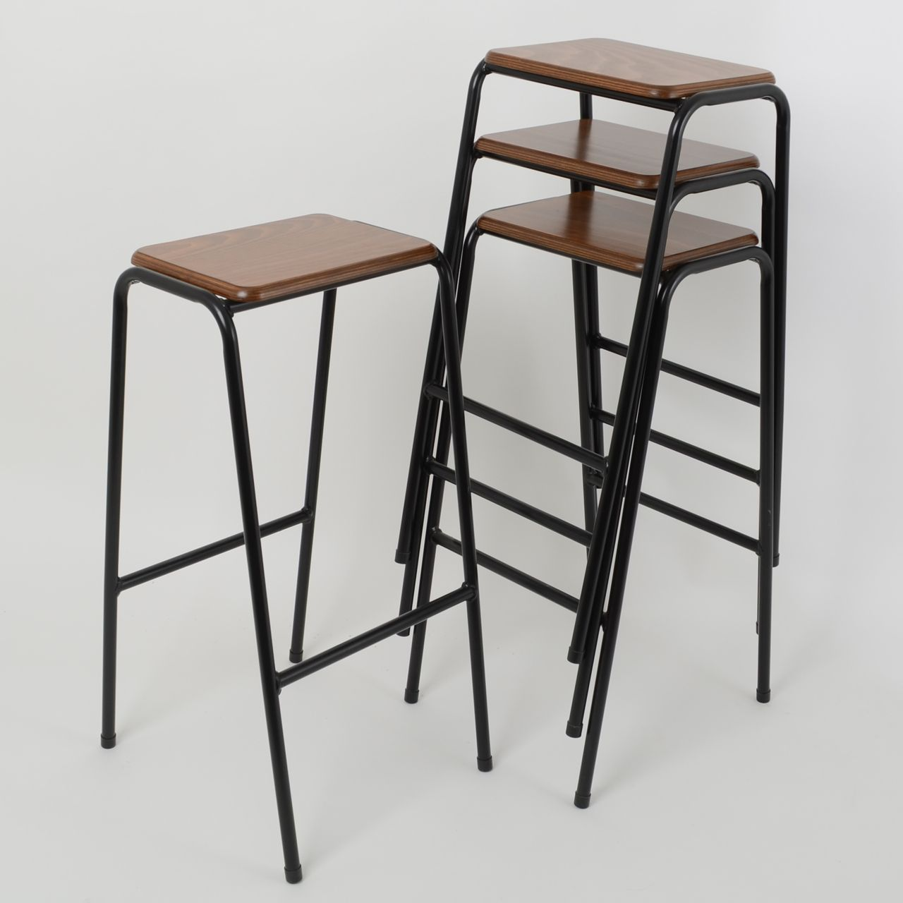 Kitchen area - The Trainspotters stacking bar stool ...