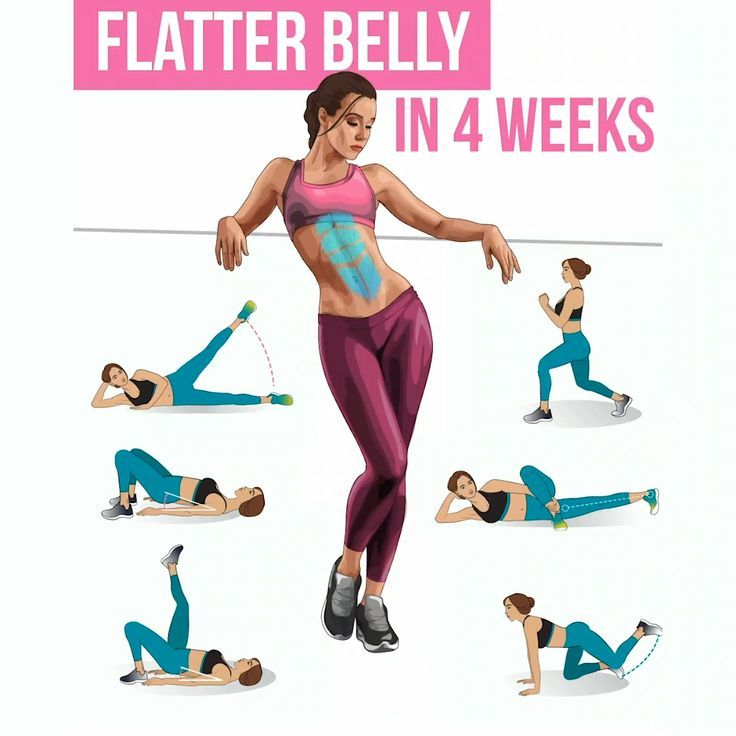 Get Flatter Belly Just in 4 Weeks with Easy Exercises at Home #fitness #exercises
