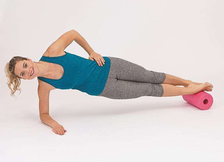Mit dem Seitstütz aktivieren Sie die stabilisierenden Muskeln und ...