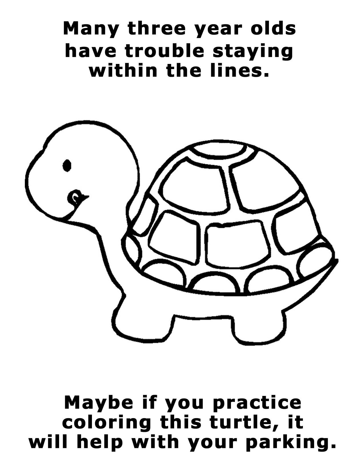 Many Three Year Olds Have Trouble Staying Within The Lines
