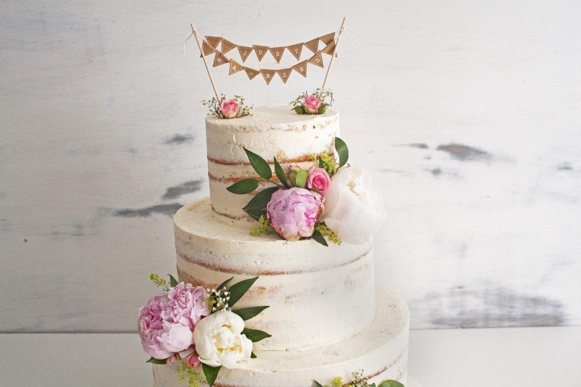 Just Married Wimpelkette Hochzeitstorte Medium Hochzeitstorte