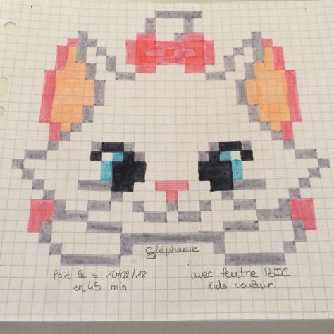 Marie Du Film Aristochat En Pixel Art Pixel Art Pixel