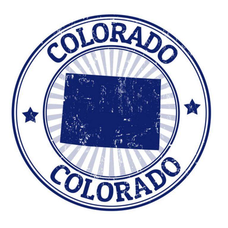 Colorado Car Insurance Info Stamp Colorado Map