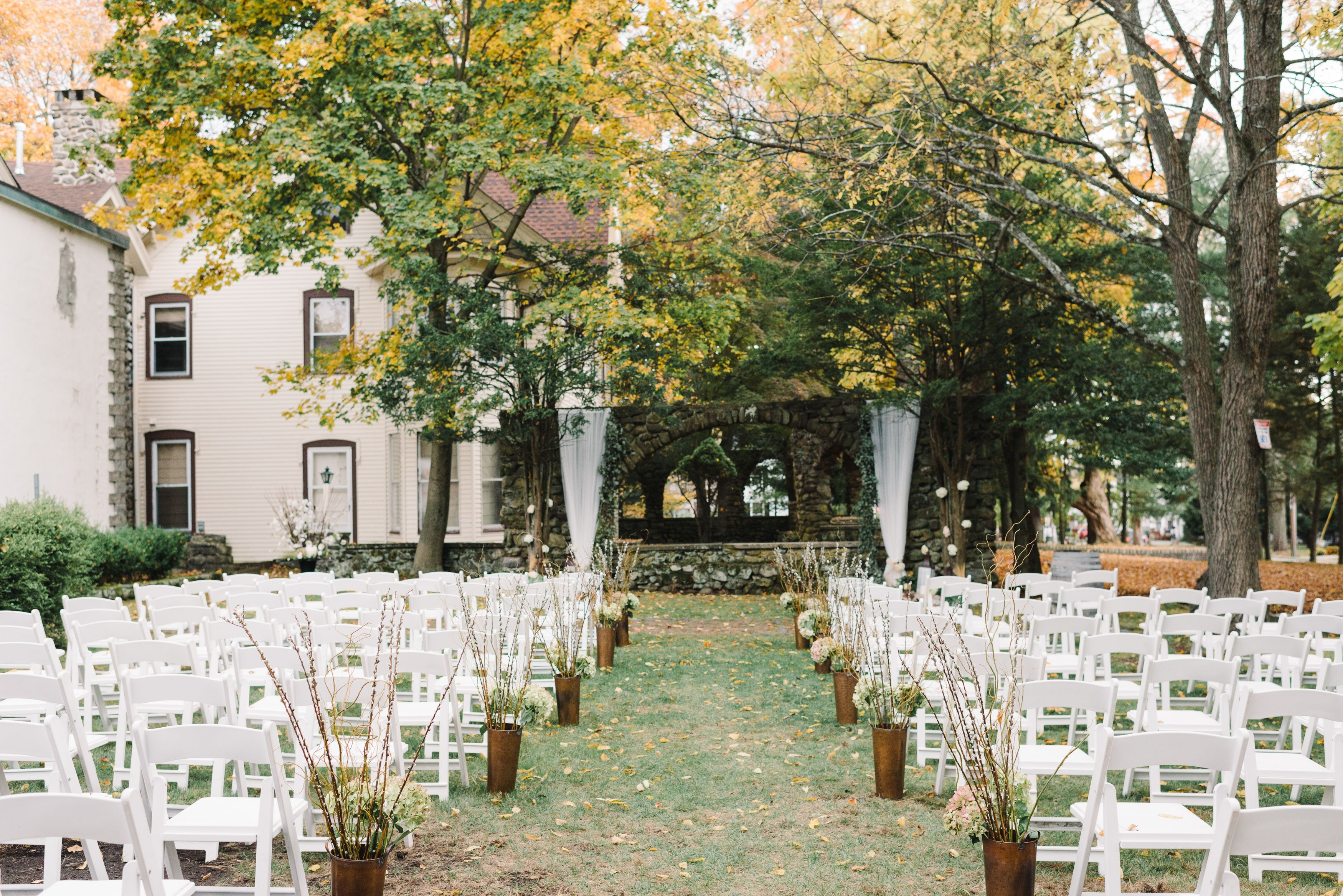 Rustic, Fall Ceremony at Brotherhood Ceremony Fall