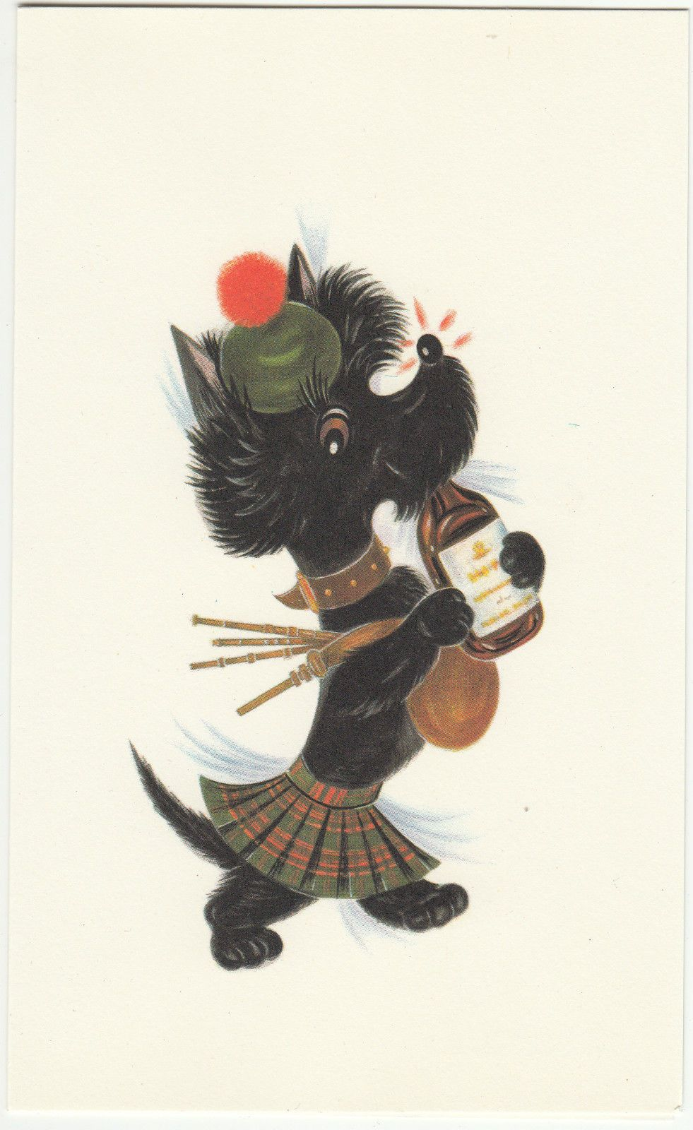 Vintage 1970s happy birthday greeting card by royle scottish vintage 1970s happy birthday greeting card by royle scottish terrier bagpipes in ebay kristyandbryce Images