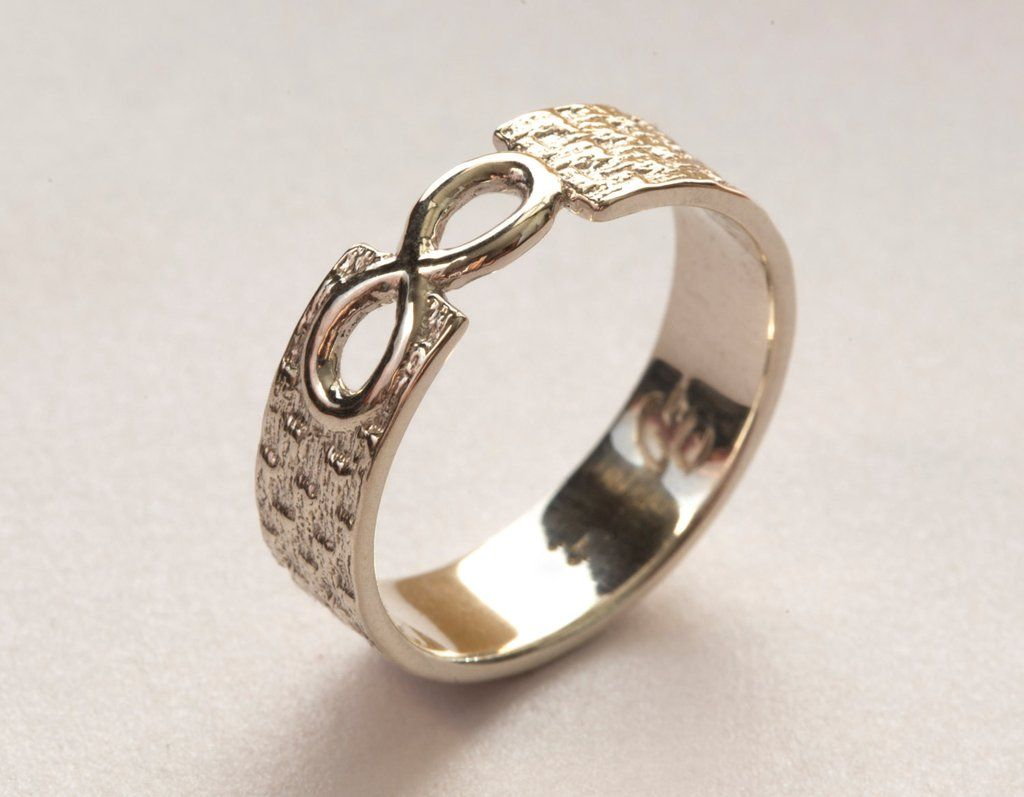 Men S Infinity Ring White Gold Infinity Ring Infinity Wedding Band Infinity Band Ring Cincin