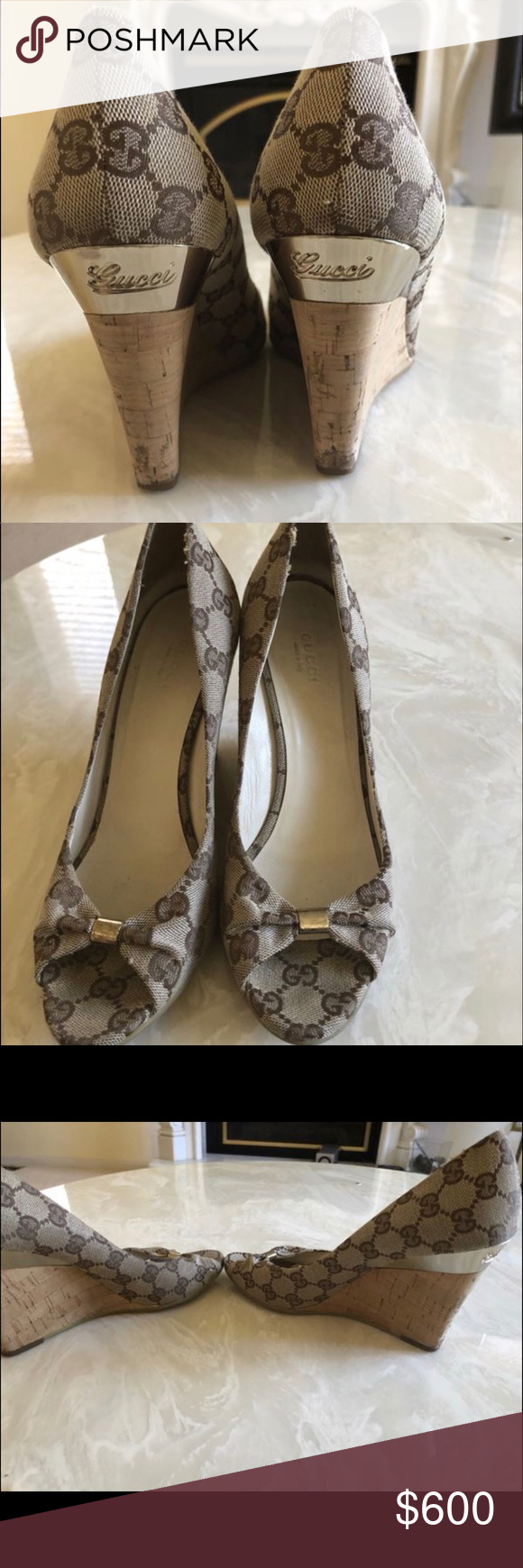 f04f00fdc80 SOLD Authentic Gucci Wedge Sandals Great condition. Only worn 3 times. Gucci  Shoes Wedges