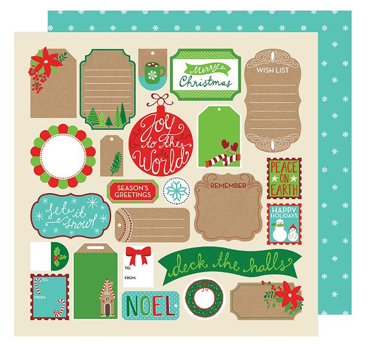 American Crafts - All Wrapped Up Collection - Christmas - 12 x 12 - christmas wish list paper