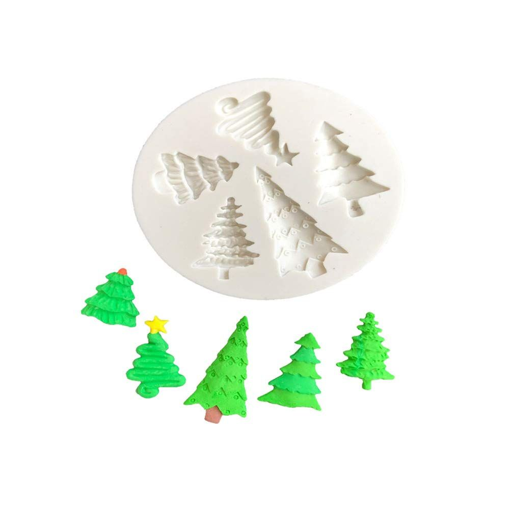 Afco Christmas Tree Silicone Mold Diy Fondant Cake Cookie Chocolate Biscuit Baking Tool Random Color Diy Fondant Cake Silicone Molds Baking Diy Christmas Tree