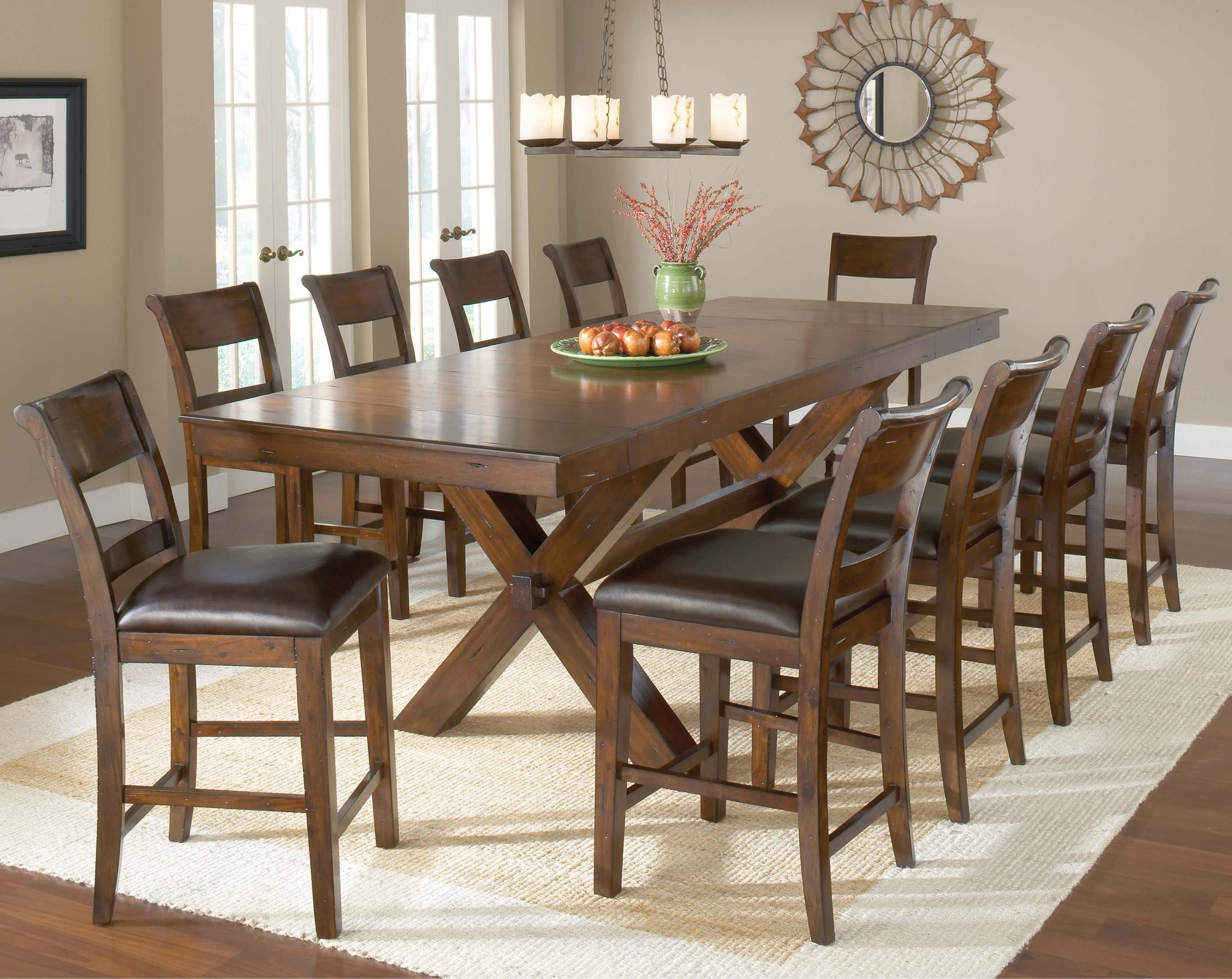 11 Piece Pub Table And Stool Set Counter Height Dining Sets Dining Room Sets Kitchen Dining Furniture