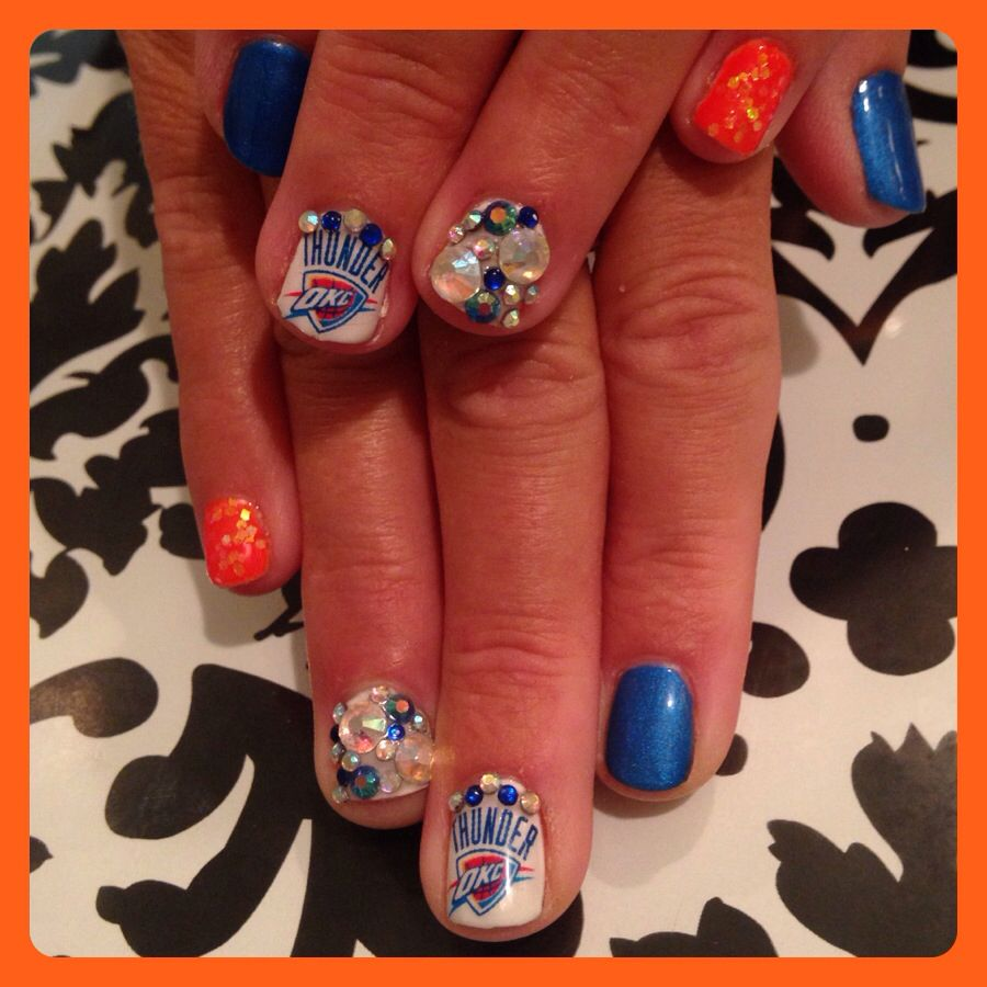 Okc Thunder Nail Design Find Me At Salon Prodigy In Okc By