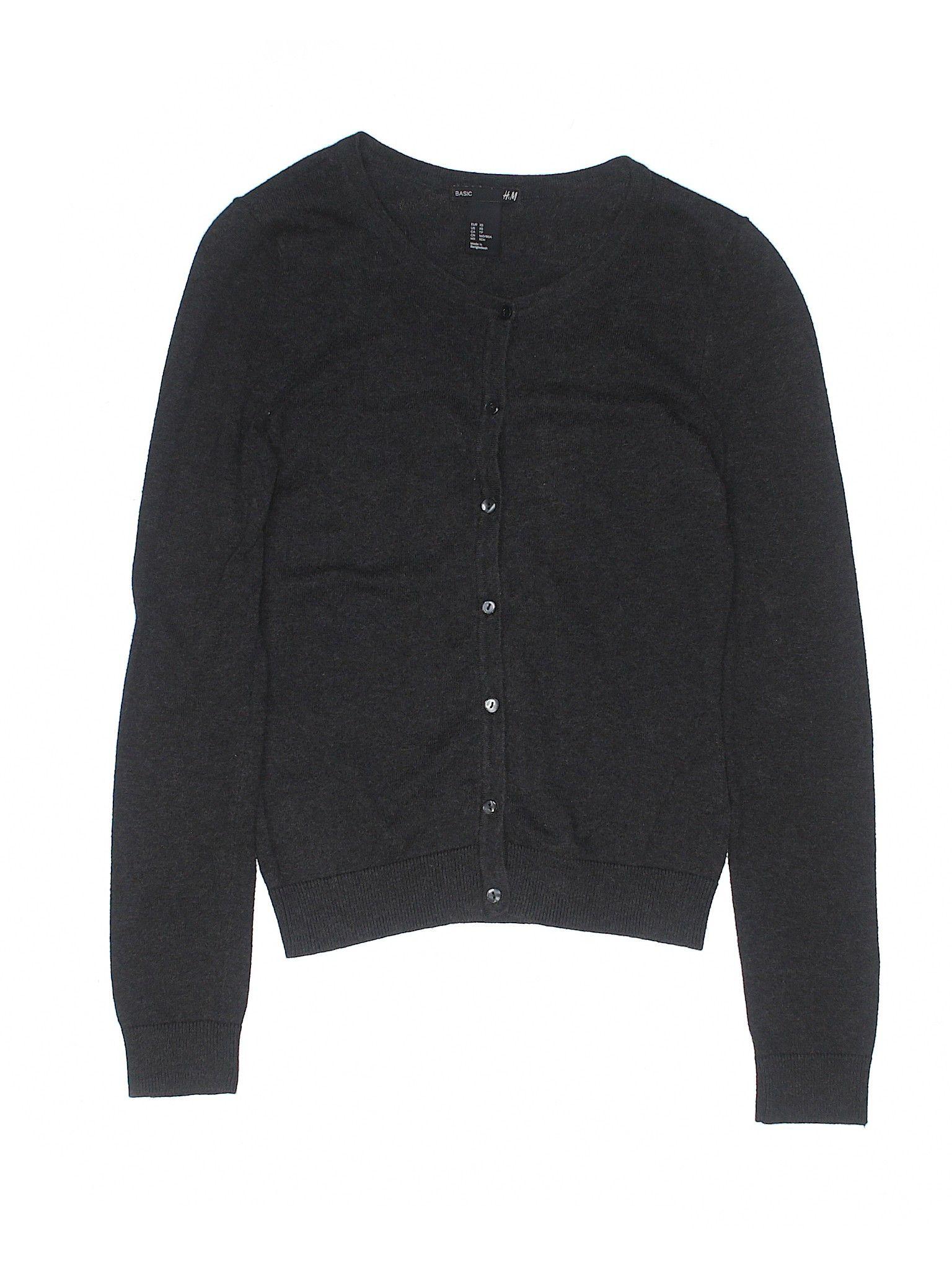 Banana Republic Womens Supersoft Cotton Blend Boyfriend Cardigan Sweater  Black  0ebb66471