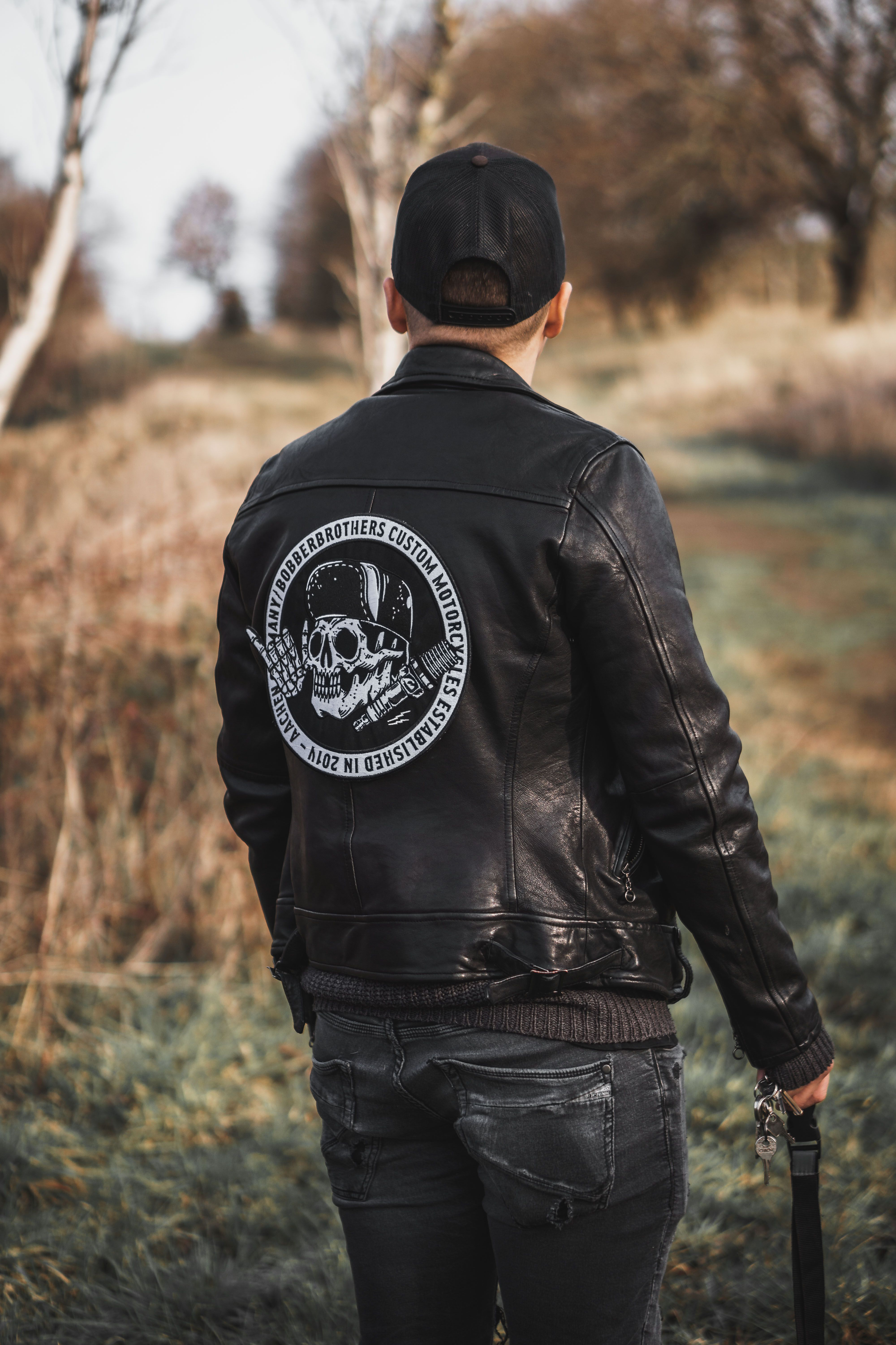 Round Large Back Patch | Mens fashion | Motorcycle outfit