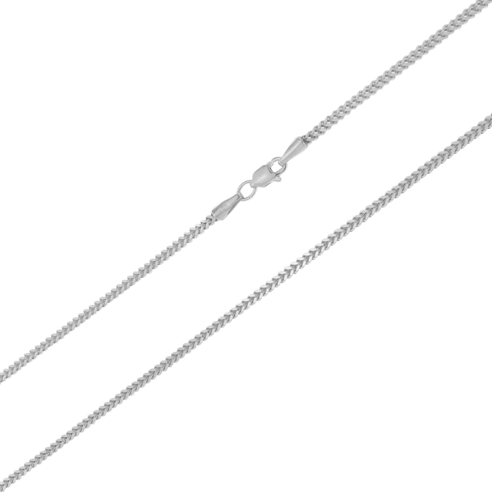 10k White Gold Womens 1 5mm Foxtail Wheat Box Franco Pendant Necklace Chain 16 In 2020 Chains Necklace White Gold Necklaces Fancy Necklace