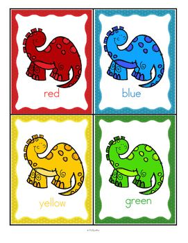 Dinosaurs Color Posters And Large Flashcards By Kidsparkz Teachers Pay Teachers In 2020 Dinosaurs Preschool Dinosaur Theme Preschool Dinosaur Classroom