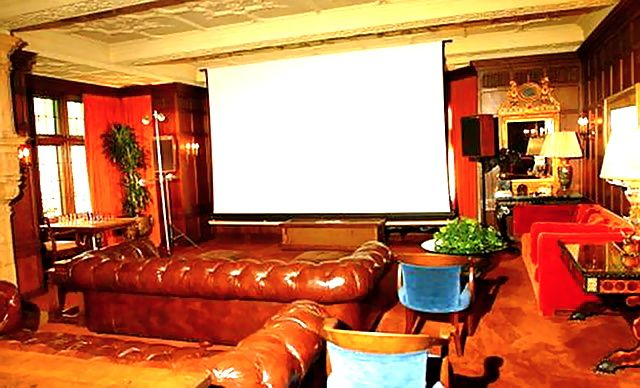 Playboy Mansion Cinema Room With Images Home Cinemas Luxury