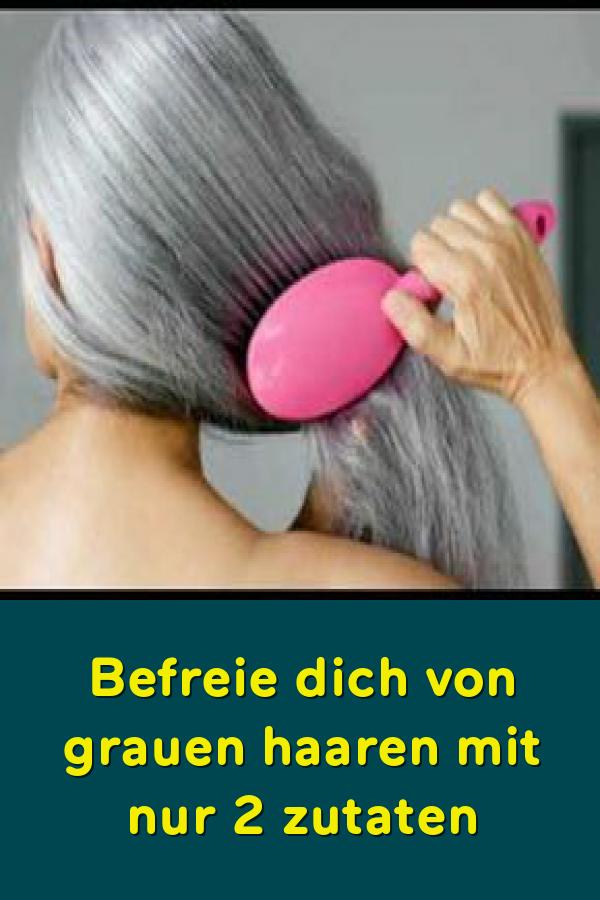 Befreie dich von grauen haaren mit nur 2 zutaten #naturalhaircare