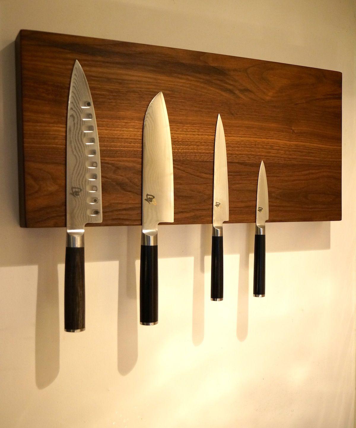 Wooden Magnetic Knife Holder Knife Storage Magnetic Knife Rack