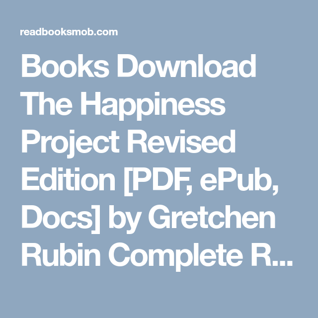 the happiness project pdf free download