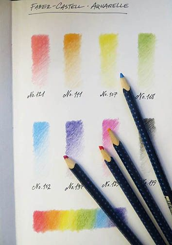 Setting Up My Palette Working With Faber Castell Aquarelle