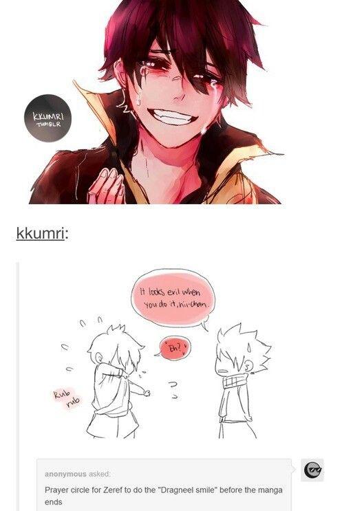 Zeref doing Natsu's cute smile XD   Fairy Tail   Fairy ...   500 x 743 jpeg 41kB