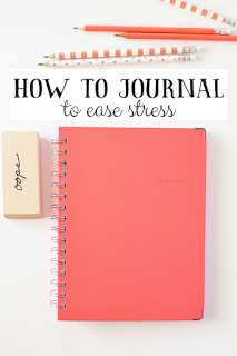 Journaling as a way to relieve stress, information and steps for getting it done!