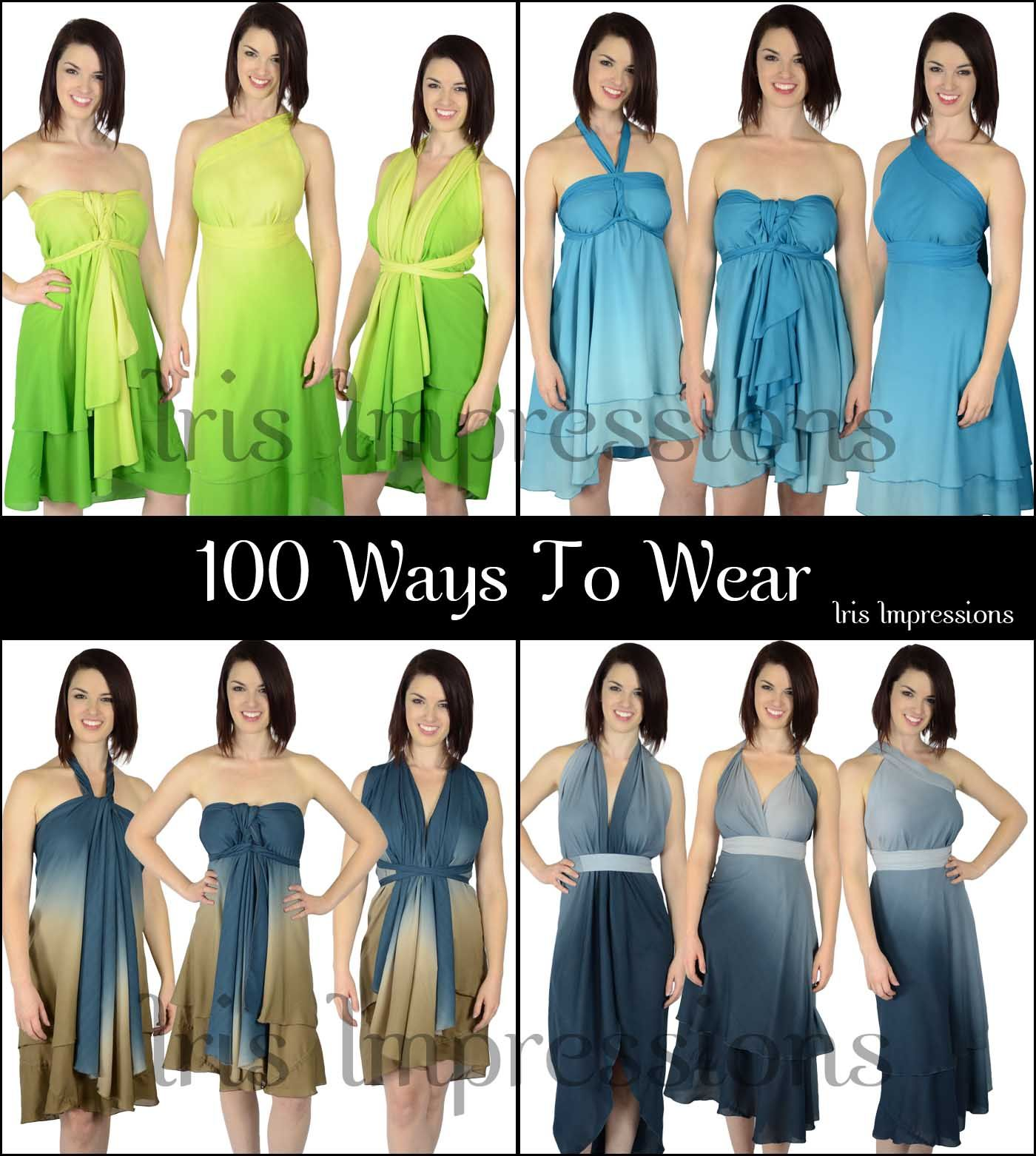 Perfect Getaway Ombre Convertible Magic Wrap Skirts. 100 ways to ...