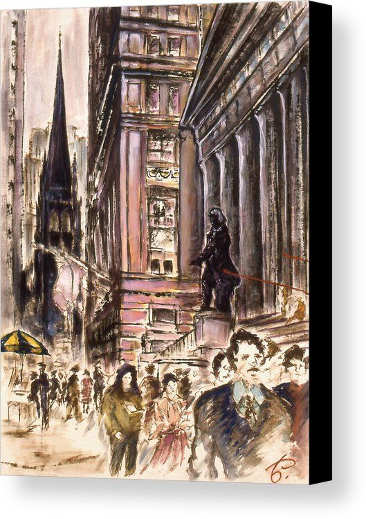 New York Wall Street Fine Art Canvas Print By America Gallery Peter Potter
