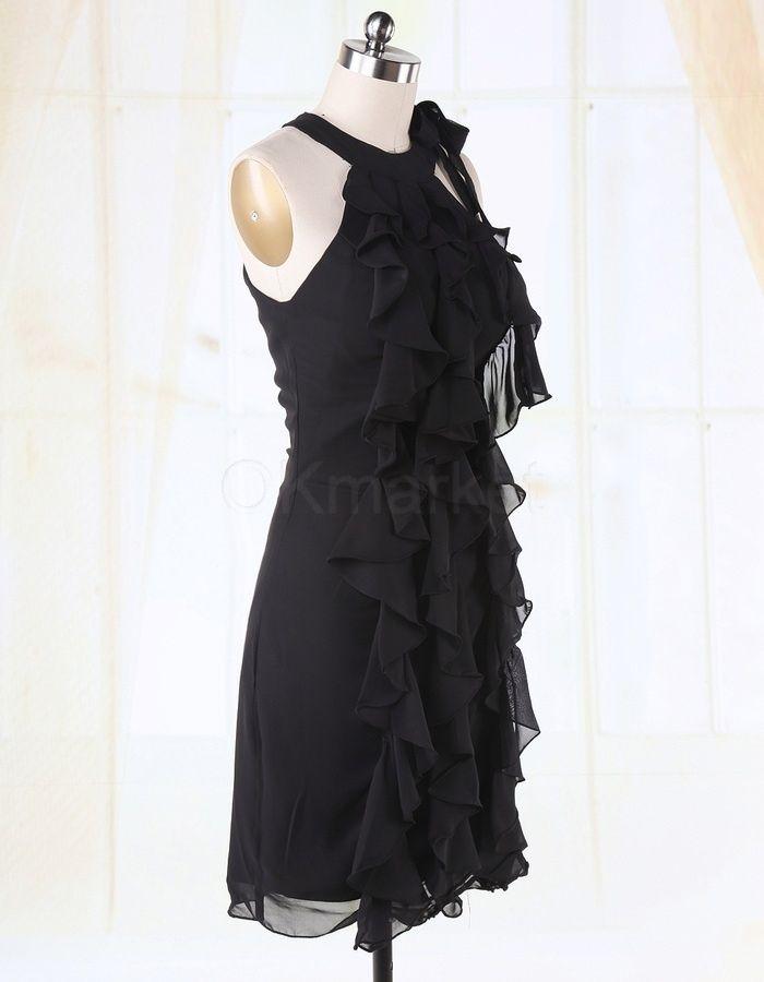 404ee426e2d283 Halfter Chiffon Schwarz Cocktailkleid Partykleid Abschlusskleid |  okmarket.com #abschlusskleid #chiffon #cocktailkleid