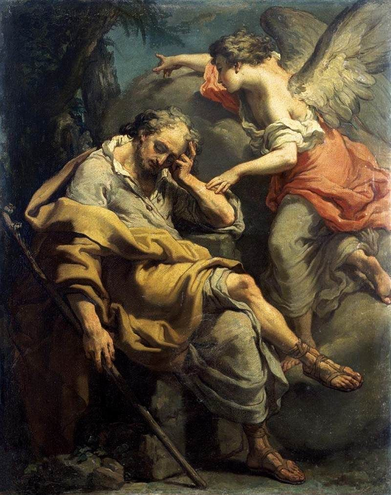 Image result for Angel appeared to Joseph in a dream do not be afraid