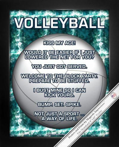 Buy Volleyball 8x10 Sport Poster Print And Boost Team Morale Funny Volleyball Sayings Will Keep Players Inspired Shop Volleyball Gifts Volleyball Volle