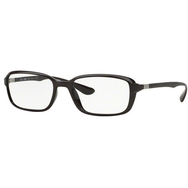 Ray-Ban RX 7037 5432 Shiny Dark Violet Eyeglasses ($180) ❤ liked on Polyvore featuring accessories, eyewear, eyeglasses, plastic glasses, dark glasses, ray ban eyewear, plastic lens glasses and plastic eyeglasses