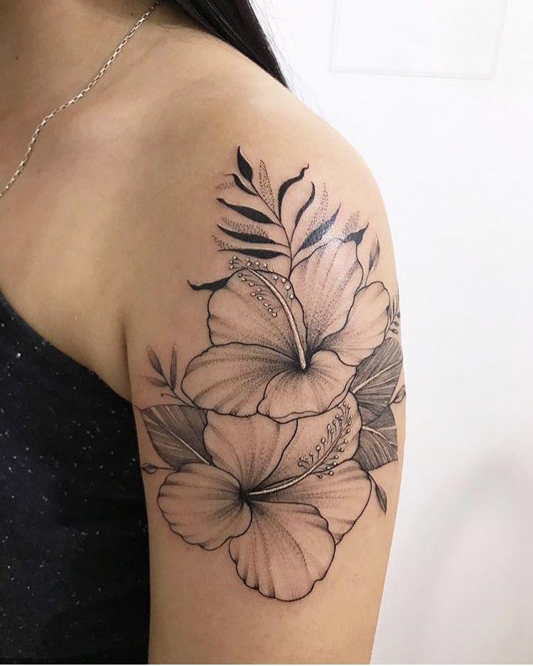 Pin By Damesa On Tatto Flower Tattoo Shoulder Hibiscus Tattoo Tribal Flower Tattoos