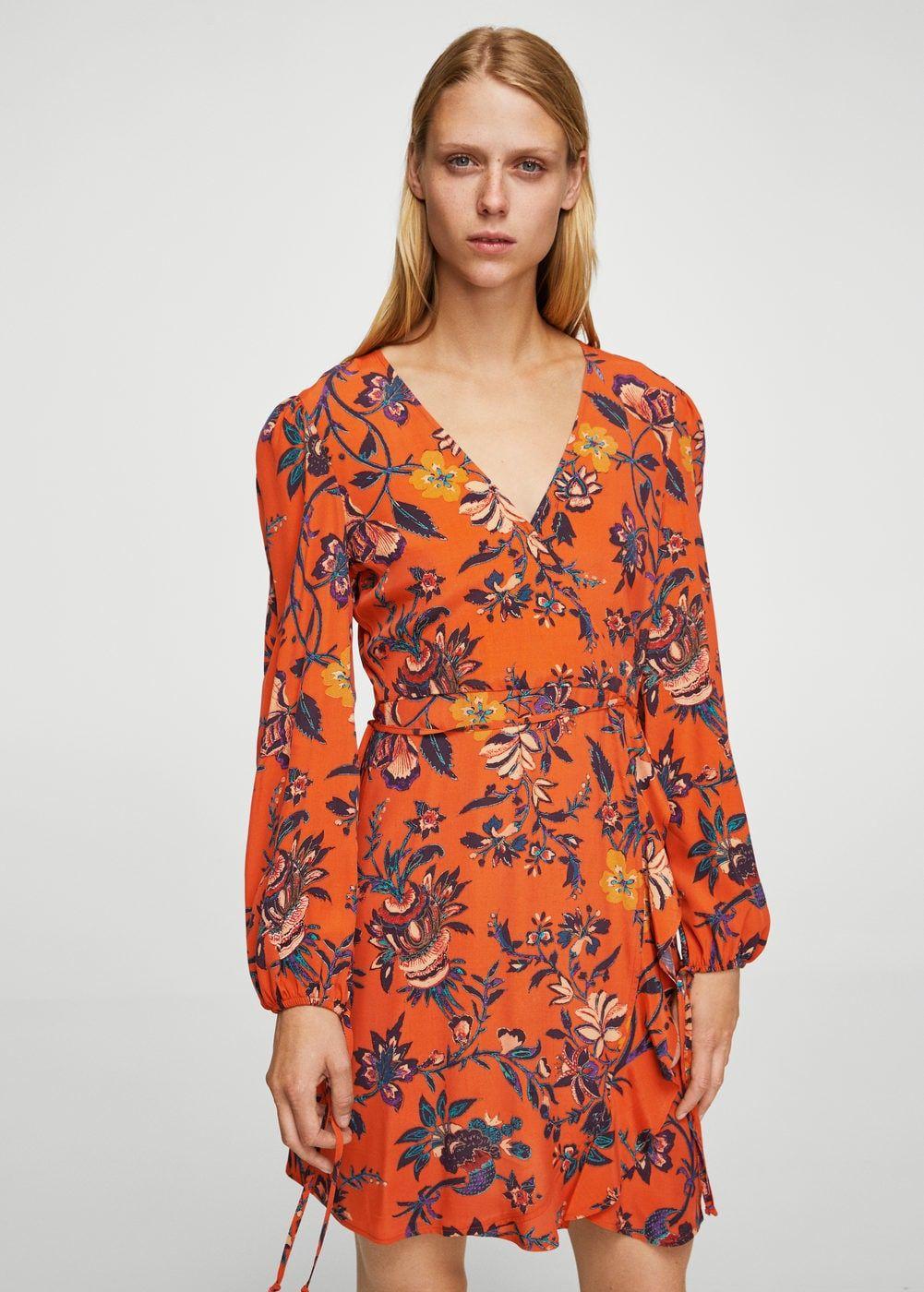 Vestido cruzado floral - Vestidos de Mujer en 2019  3d5ba36098f