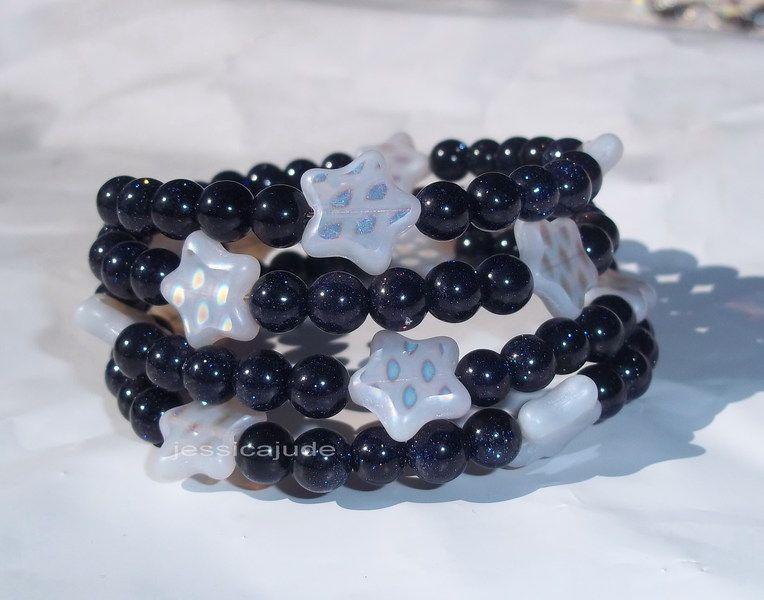 BLUE SANDSTONE WITH STARS BRACELET http://www.listia.com/auction/13226619-blue-sandstone-with-stars-bracelet