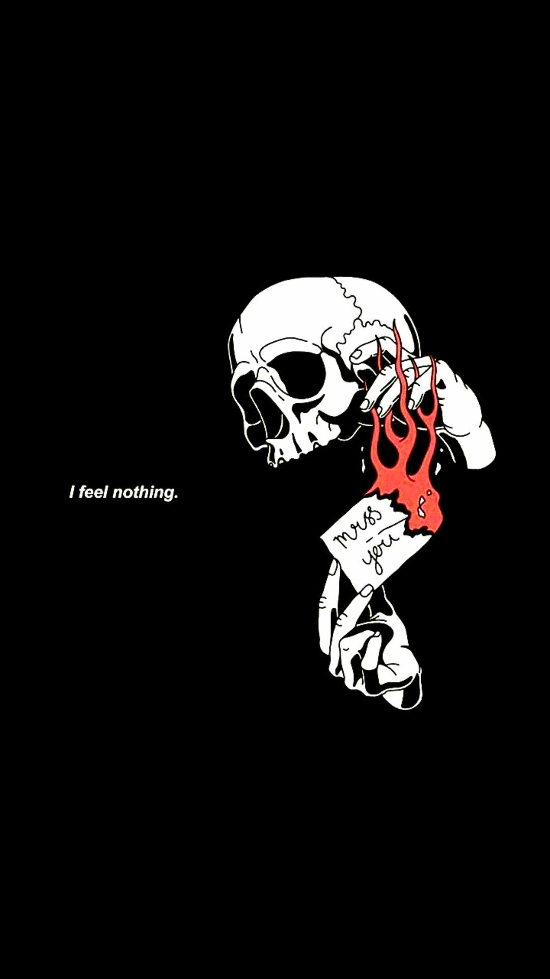Pin By On ʷᵃˡˡᵖᵃᵖᵉʳˢ Edgy Wallpaper Skull Wallpaper