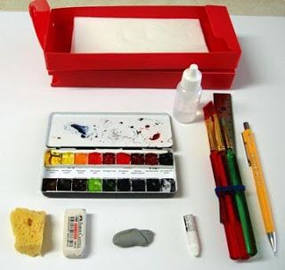 My Palette That Holds 18 Colors A Sponge Large White Eraser