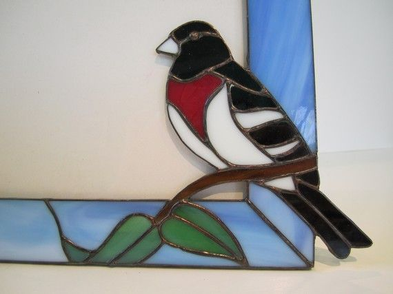 Rose Breasted Grosbeak Picture Frame